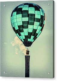 Keeping Warm As You Float Acrylic Print by Bob Orsillo