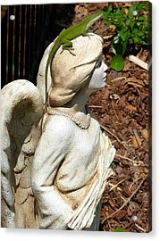 Acrylic Print featuring the photograph Keeping Watch With An Angel by Jeanne Kay Juhos