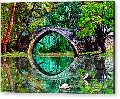 Kefalos Bridge Cyprus Acrylic Print