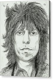 Keith Richards Acrylic Print by Alison Hayes