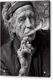 Keith Richards Acrylic Print by Hans Wolfgang Muller Leg