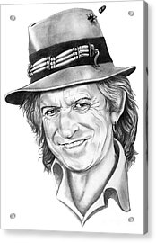 Keith Richards Acrylic Print by Murphy Elliott