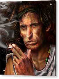 Keith Richards1-burning Lights 4 Acrylic Print