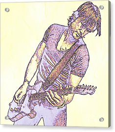 Keith Urban Sketch Acrylic Print by JohnMalone