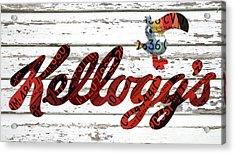 Kelloggs Fruit Loops Cereal Michigan Vintage License Plate Art Acrylic Print