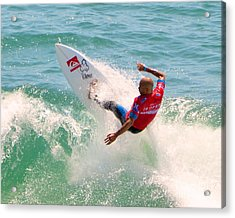 Kelly Slater Us Open Of Surfing 2012     3 Acrylic Print by Jason Waugh