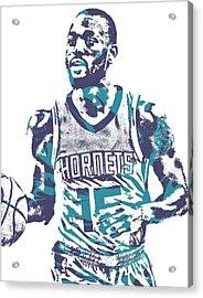 Kemba Walker Charlotte Hornets Pixel Art 22 Acrylic Print