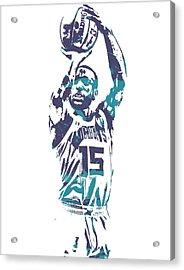 Kemba Walker Charlotte Hornets Pixel Art 28 Acrylic Print