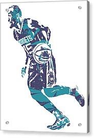 Kemba Walker Charlotte Hornets Pixel Art 7 Acrylic Print