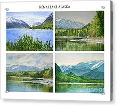 Kenai Lake Alaska Poster With Title Acrylic Print by Sharon Freeman