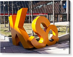Kendall Square Sign Cambridge Ma Acrylic Print