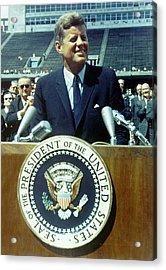 Kennedy At Rice University Acrylic Print