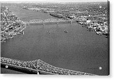 Kennedy Bridge Construction Acrylic Print