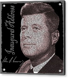 Kennedy Inaugural Address Acrylic Print by Edelberto Cabrera