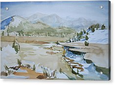 Kennedy Meadows Half In Winter Acrylic Print by Amy Bernays