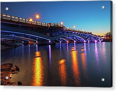 Kenneth F. Burns Memorial Bridge Acrylic Print by Juergen Roth