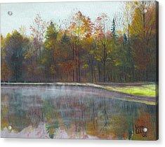 Kennison Pond  Acrylic Print by Laurel Ellis