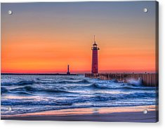 Kenosha Lighthouse Dawn Acrylic Print