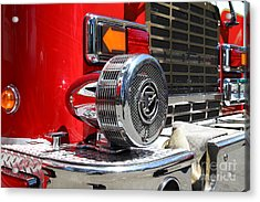 Kensington Fire District Fire Engine Siren . 7d15879 Acrylic Print by Wingsdomain Art and Photography