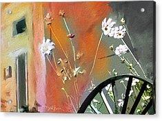 Kensington Market Floral Detail Acrylic Print by Bob Salo