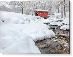Kent Connecticut Winter Stream Acrylic Print