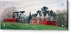 Kent Country Houses Acrylic Print by Debbie Homewood
