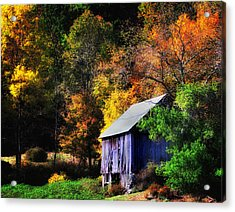 Kent Hollow II - New England Rustic Barn Acrylic Print by Thomas Schoeller
