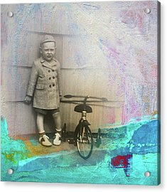 Acrylic Print featuring the mixed media Kent Tricycle by Nancy Merkle
