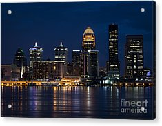 Louisville At Night Acrylic Print