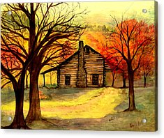 Kentucky Cabin Acrylic Print by Gail Kirtz