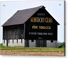 Kentucky Club Pipe Tobacco Barn Acrylic Print
