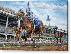 Kentucky Derby - Horse Racing Art Acrylic Print