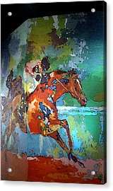 Kentucky Horse Park - Mural Of Horse Race  Acrylic Print by Thia Stover