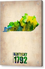 Kentucky Watercolor Map Acrylic Print