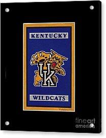 Ky Wildcats Logo T-shirt Acrylic Print