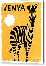 Kenya Africa Vintage Travel Poster Restored Acrylic Print