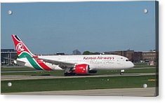 Kenya Airways Boeing 787 Acrylic Print
