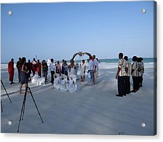 Kenya Wedding On Beach 2 With Maasai Acrylic Print