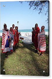 Kenya Wedding On Beach Maasai Bridal Welcome Acrylic Print