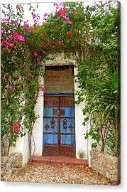 Kenyan Doorway With Bougainvillea Acrylic Print