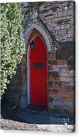 Red Church Door Acrylic Print