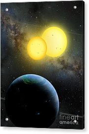 Kepler-35 Acrylic Print by Lynette Cook
