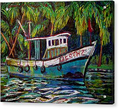 Kerala Fishing Boat  Acrylic Print