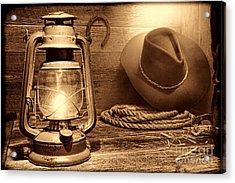 Kerosene Lantern Acrylic Print