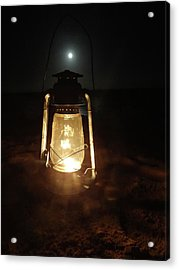 Kerosine Lantern In The Moonlight Acrylic Print