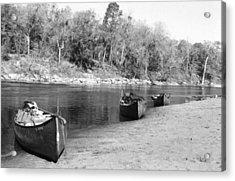Kerr Lake Canoes Acrylic Print by Steven Crown