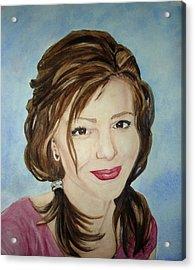 Kerra Lindsey  Self Portrait Acrylic Print by Kerra Lindsey