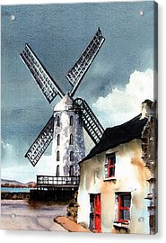 Kerry Windmill At Blennerville Acrylic Print