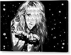 Kesha Acrylic Print by Brad Scott