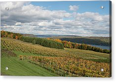 Keuka In Autumn Acrylic Print by Joshua House
